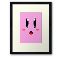 kirby face Framed Print