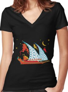 Ottoman Ship Women's Fitted V-Neck T-Shirt