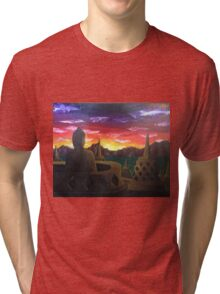 Indonesian Sunset Tri-blend T-Shirt