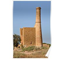 Moonta Mines - Hughes Wheal - Pumphouse and Chimney Poster