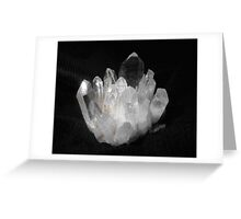 Quartz Crystals Greeting Card