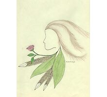 Spirit Woman and Rose Photographic Print