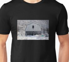 Old Barn after the Snow Unisex T-Shirt