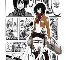 Mikasa (manganime) by akameruza