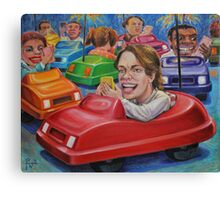 Bumper Car Texting Canvas Print
