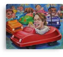 Bumper Car Texting Canvas Print