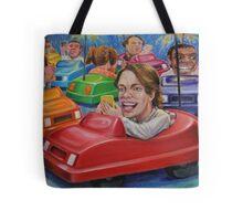 Bumper Car Texting Tote Bag