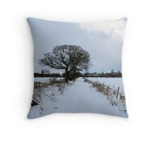 A winters trail IV Throw Pillow