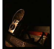 Old Books and Camera- TTV Photographic Print
