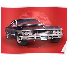 1967 Chevorlet Impala - Supernatural TV SHow Poster