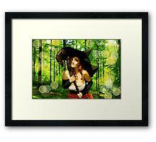 Sorceress - Forest Magic Framed Print