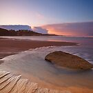 Winter sun on Saltburn beach by Phillip Dove