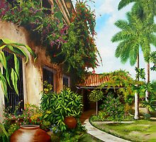 Patio del Hotel Camagüey by Dominica Alcantara