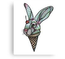 Rabbit Ice Cream Canvas Print