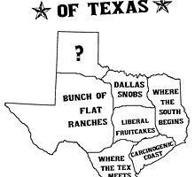 The 5 States of Texas by whoisannamarie
