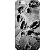 footprints in the mud iPhone Case/Skin