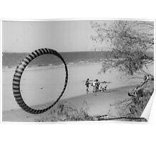 circling beach Poster
