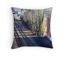 The Nine O' Five Is Coming! -  (SMALLTOWN USA series)   ^ Throw Pillow