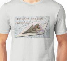 Paper Plane Real Dreams Unisex T-Shirt