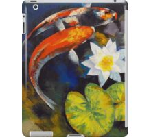 Koi Fish and Water Lily iPad Case/Skin