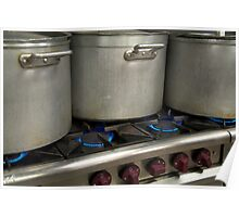 Gas stove top cooking Poster