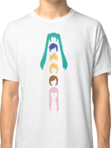 Vocaloid Heads (white) Classic T-Shirt