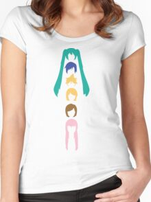 Vocaloid Heads (white) Women's Fitted Scoop T-Shirt