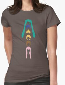 Vocaloid Heads (white) Womens Fitted T-Shirt