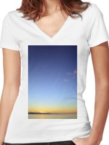 Sunrise Women's Fitted V-Neck T-Shirt