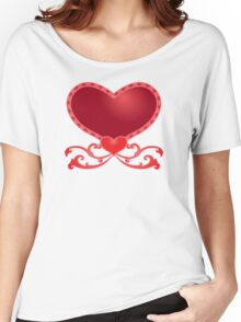 Big Red Heart Women's Relaxed Fit T-Shirt