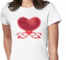 Big Red Heart Womens Fitted T-Shirt