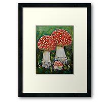 Mushrooms Framed Print