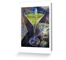 Appletini Greeting Card