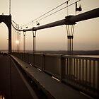 Sunset On The Bridge to Jamestown - © 2009 - Pell Bridge - featured by Jack McCabe