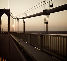 Sunset On The Bridge to Jamestown - © 2009 - Pell Bridge - featured by Jack McCabe