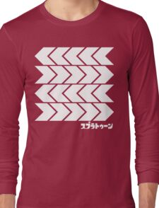Splatoon Takoroka Red Vector Tee Long Sleeve T-Shirt