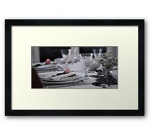 New year's day table Framed Print