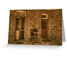 The Side Entry Greeting Card