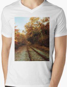 Fallen Railroad Mens V-Neck T-Shirt
