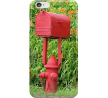 Firehouse Mailbox and Fire Hydrant iPhone Case/Skin