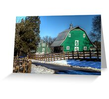 Green Barns on the Montpelier Farm Greeting Card