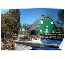 Green Barns on the Montpelier Farm Poster