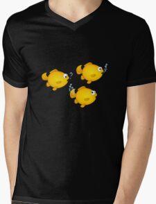 Happy Cartoon Goldfish Mens V-Neck T-Shirt