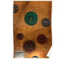 Milan. Clocks at a Street Market. Italy 2010 Poster