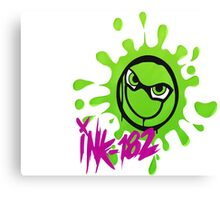Ink-182 (Green & Purple) Canvas Print
