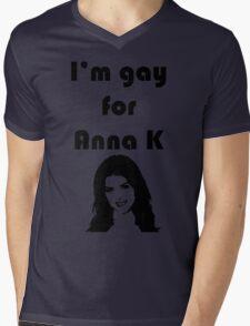 """I'm Gay for Anna K"" Print Mens V-Neck T-Shirt"