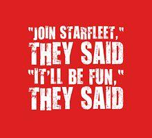 Starfleet fun. Womens Fitted T-Shirt