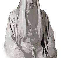 Saruman Cutout Print Design by MintyBadger123