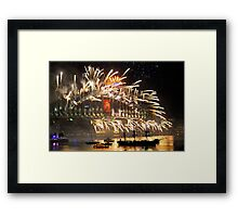 Sydney New Year Eve 2009 Fireworks - Smoke on the water & fire in the sky Framed Print