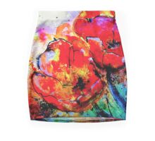 The Abstract Tulip Pencil Skirt